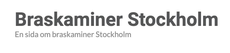 Braskaminer Stockholm logotyp